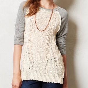 Anthropologie Dolan Parknit Crochet Sweater S NWT